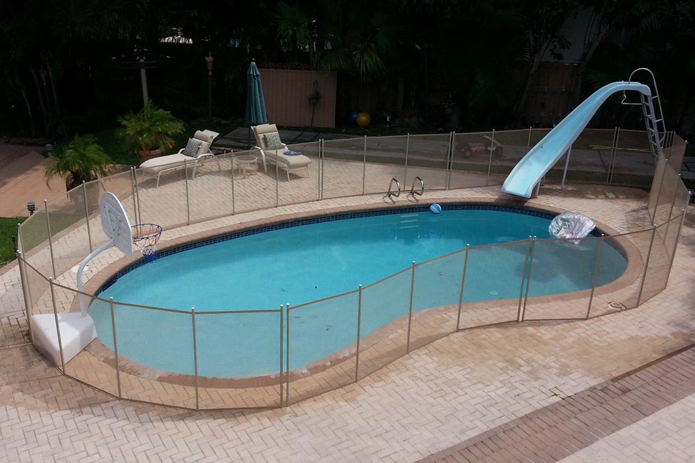 Beige swimming pool fences baby guard fence