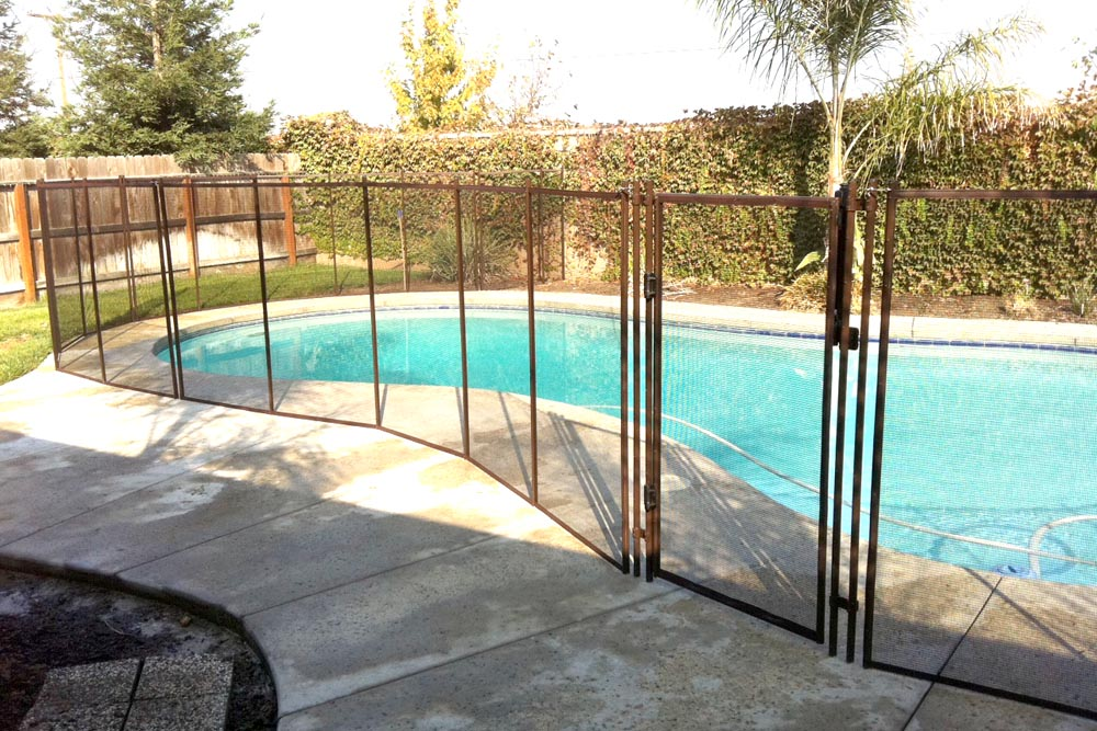 Brown swimming pool fences baby guard fence